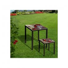 Table et tabouret en pierre de lave Friends Red Rocks