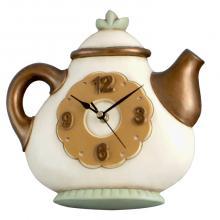 Horloge Cuivre Ronde Théière
