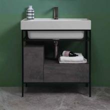 Meuble pour lavabo avec tiroir et porte 70x50xH76 Quadrello