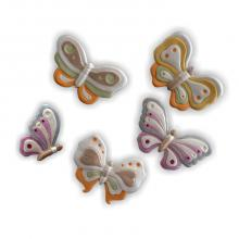 Papillons 5 pièces