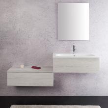 Composition Suspendue salle de bains Unika 160 orme blanc