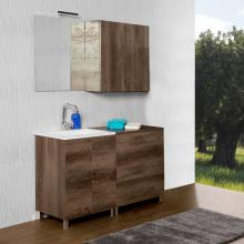 Composition salle de bains/laverie au sol cm 130 Unika