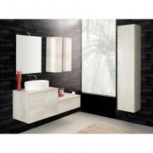Composition Suspendue salle de bains Unika 140 orme blanc