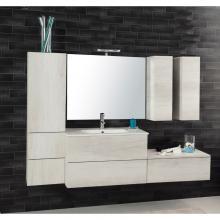 Composition Suspendue salle de bains Unika 185 orme blanc