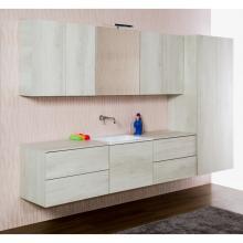 Composition salle de bains/laverie suspendue cm 270 Unika