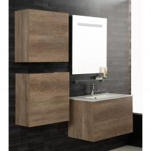 Composition Suspendue salle de bains Unika 160 orme naturel