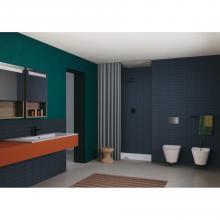 Lavabo console à poser/suspendu cm 121x51vasque simple ou double Slim