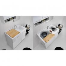 Lavoir d'intérieur avec panier à linge 100x55xH89 Active Wash Statique