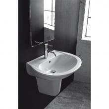 Lave-mains avec semi-colonne suspendue Krio