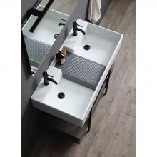 Lavabo à poser double-bassin cm 100x50 Nobu