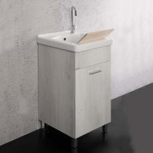 Meuble lavoir 45x50 cm avec vasque en céramique Unika