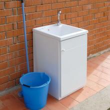 Bac lavoir avec meuble à une porte pour extérieur Lemon
