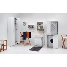 Lavoir d'intérieur 60x50xH86 cm avec lave-linge et panier à linge Jollywash