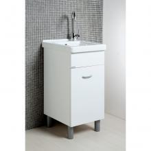 Lavoir Oceano 45x50 avec vasque en céramique et table en bois