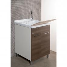 Meuble lavoir avec vasque en ABS et deux portes cm 55x45xH89 Medusa