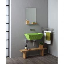 Lavabo à Poser/Suspendu Rectangulaire Pietra Vert Impulsion Brillant
