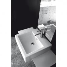 Lave-mains semi-encastré Quadro