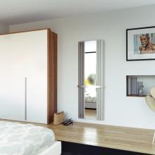 Radiateur décoratif sêche-serviettes hydraulique acier inox avec miroir H1800x600 mm Panacea Espejo