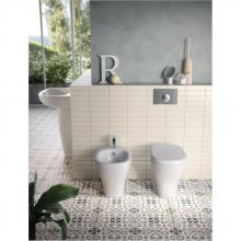 Couple vase + bidet dos au mur My