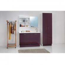 Meuble couvre machine à laver avec bassin à gauche 130x65xH89 Active Wash Statique