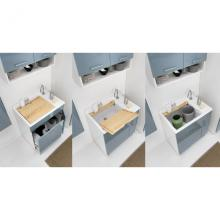 Lavoir d'intérieur avec panier à linge 75x50xH86 Lindo