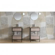 Meuble pour lavabo avec évier en céramique et tiroir Skema