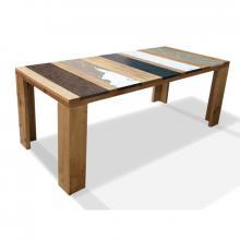 Table moderne en bois et lave incorporé Xilo