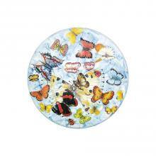 Table ronde en pierre de lave Butterfly
