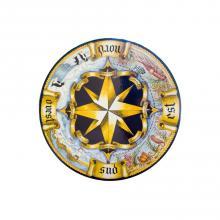 Table ronde en pierre de lave Rosa dei Venti Antico