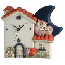 Horloge Maison et Hiboux
