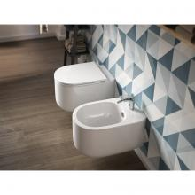 Wc sans bords + Bidet Suspendus Giò Evolution