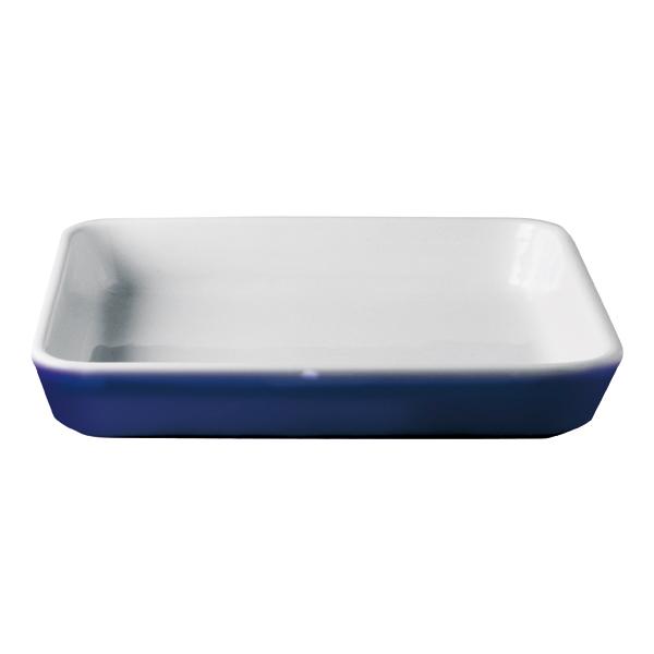 Moule Rectangulair Bords Lisses ou Ronds Blanc/Cobalt