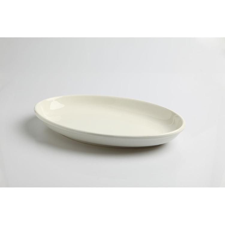 Assiette Ovale Blanche