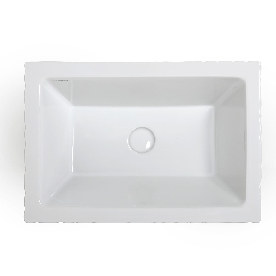 Lavabo à Poser/suspendu Rectangulaire Pietra Blanc