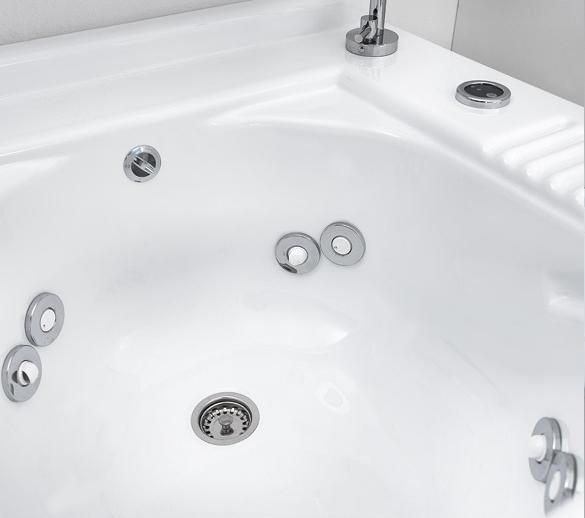 Lavoir d'intérieur avec jets et panier à linge 100x55xH89 Active Wash