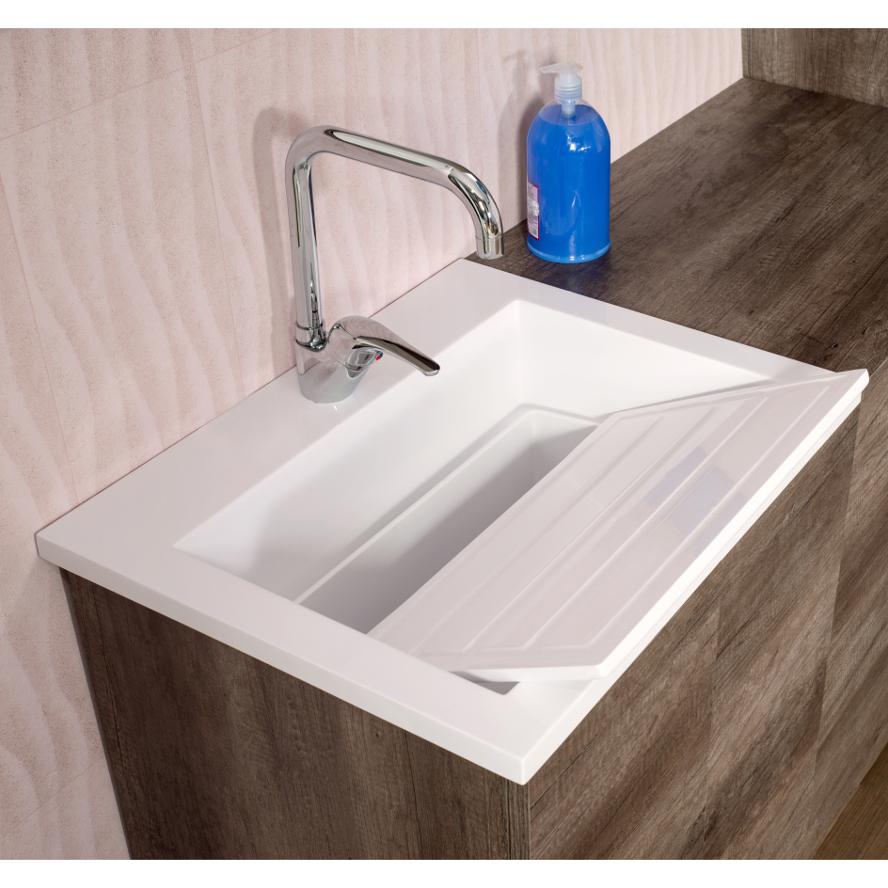 Composition salle de bains/laverie au sol cm 200 Unika