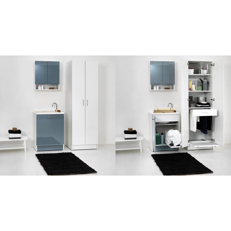 Lavoir d'intérieur avec panier à linge 65x55xH89 Active Wash Statique