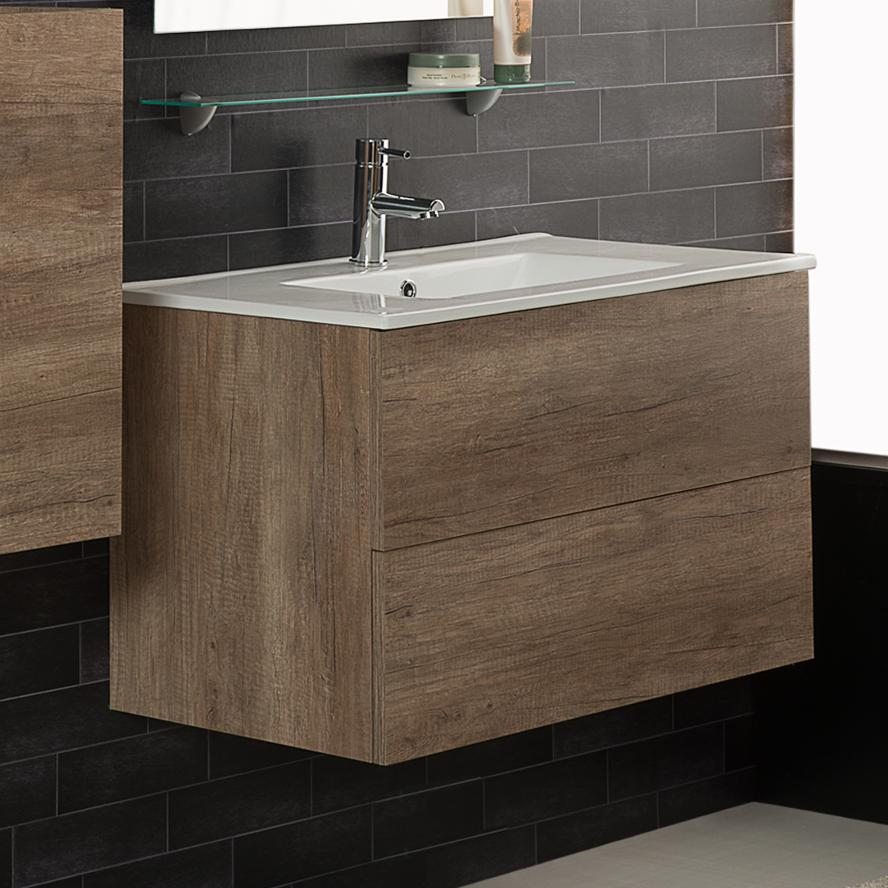 Meuble Suspendu Porte-lavabo cm 80x45.5xH50 Unika