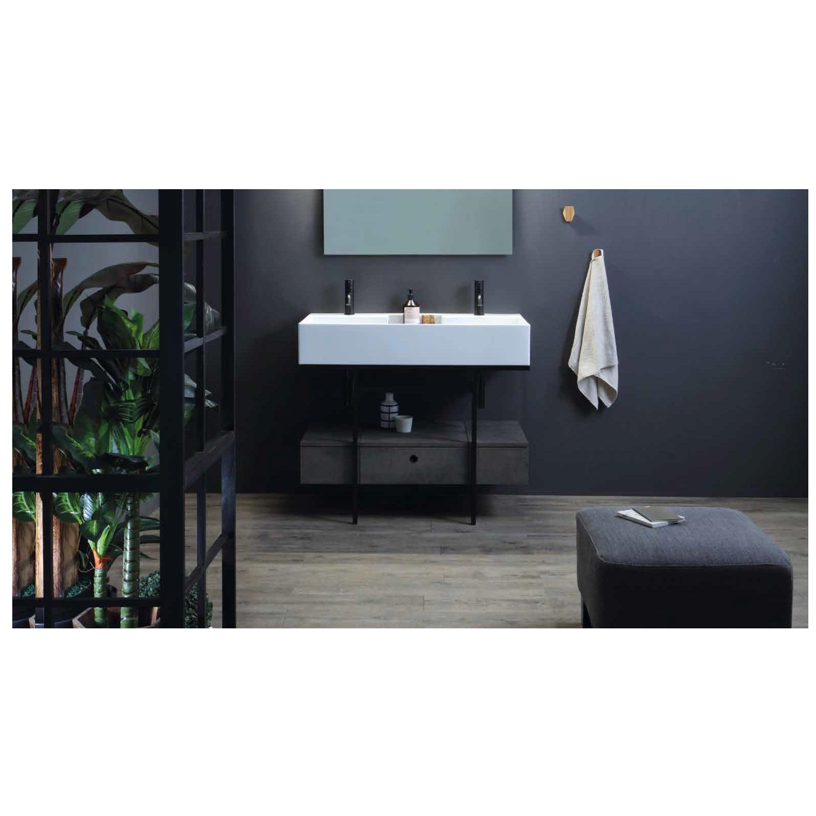 Structure porte-lavabo avec tiroir cm 100x50xH70 Quadrello