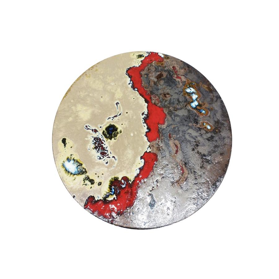 Table ronde moderne en pierre de lave Red Rocks