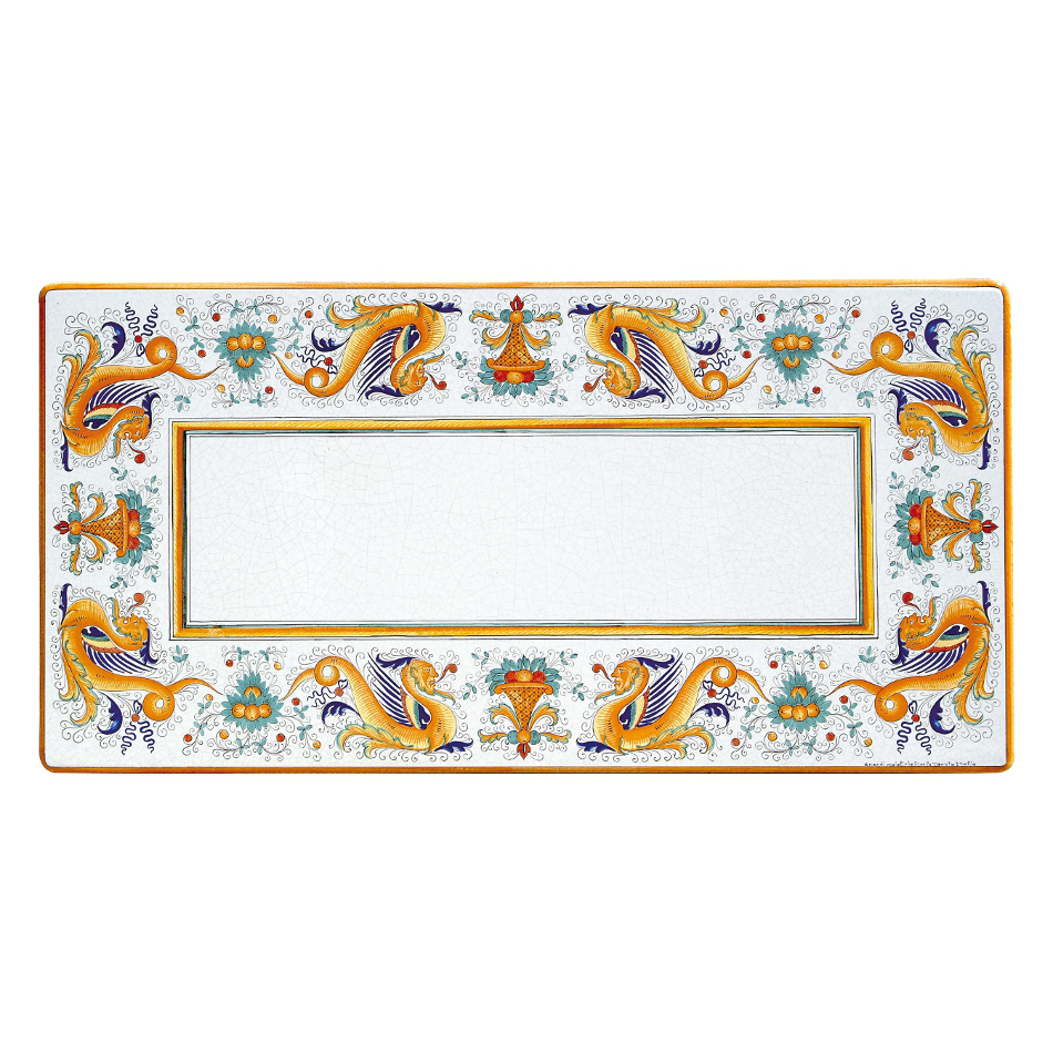 Table rectangulaire en pierre de lave Raffaello