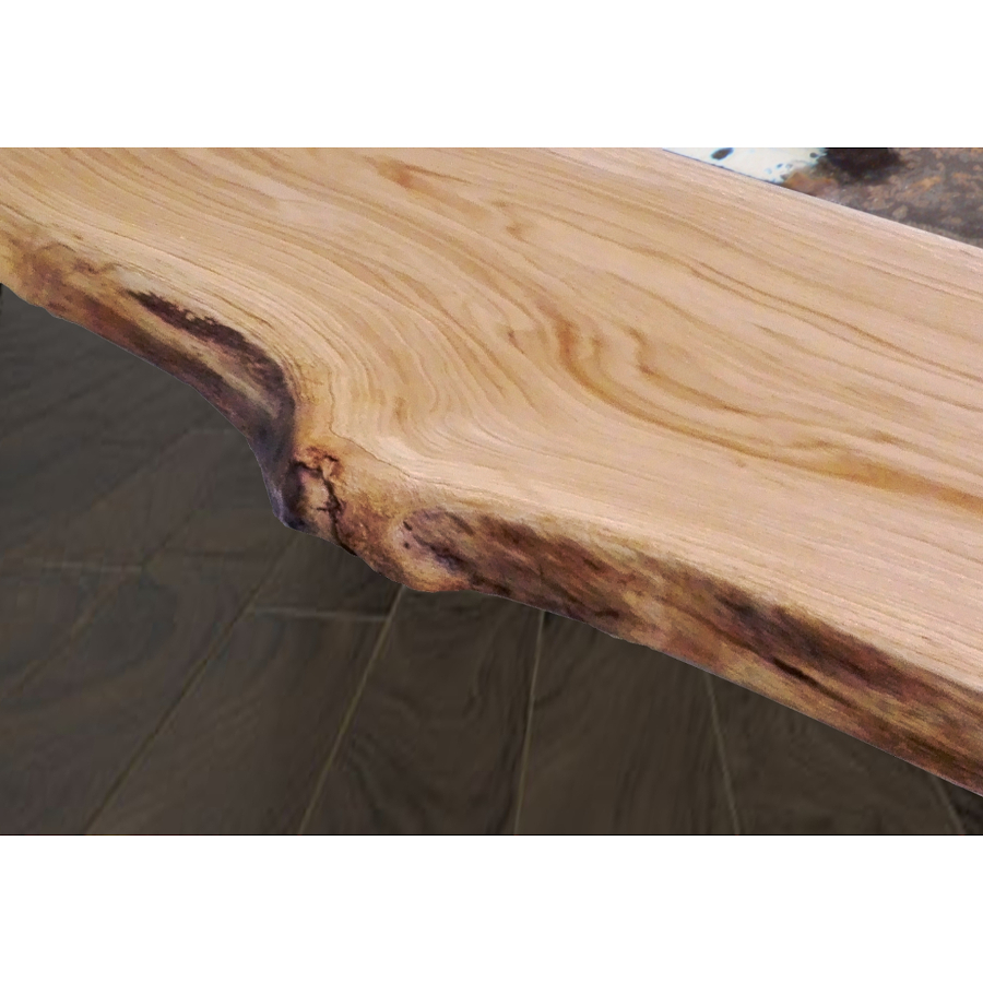 Table moderne en bois et lave incorporé Life Highlands