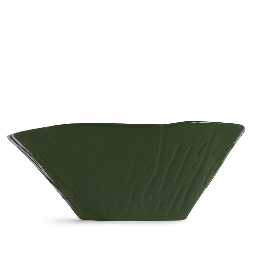 Lavabo à Poser/Suspendu Ovale Terra Vert Anglais Brillant