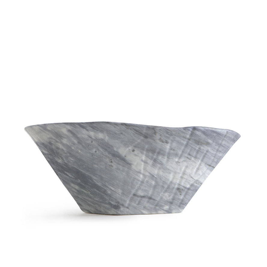 Lavabo à Poser/Suspendu Ovale Terra Bardiglio