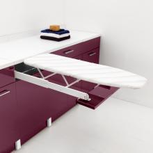 Meuble laverie avec table à repasser amovible