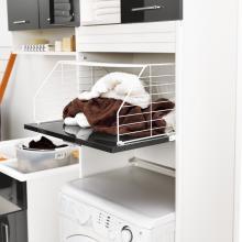Colonne à linge avec espace machine à laver et panier à linge Brava
