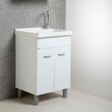 Meuble lavoir blanc + céramique 60x50 Onda