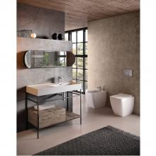 Structure avec tiroir et étagères pour lavabo 100 cm Faster Kiub