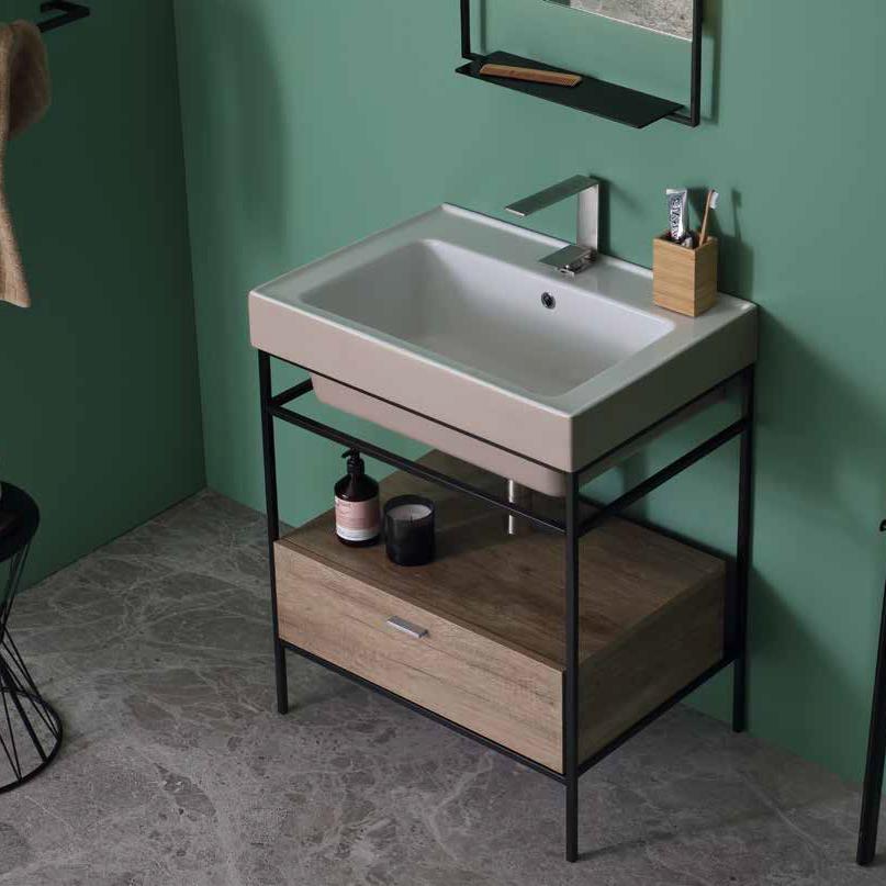 Lavabo à poser / suspendu en céramique 70x50 Trix